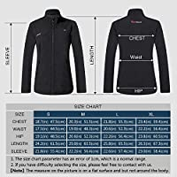 PROSmart Womens Heated Jacket Slim Fit and Waterproof Heating Jacket with 12Volt Battery Pack Black