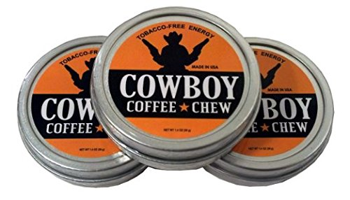 Cowboy Coffee Chew (Pack of 3) Lose Weight Loss Diet Supplement Appetite Suppressant Caffeine Stimulant Fat Burning Energy