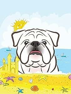 Caroline tesoros del bb2088gf blanco Bulldog Inglés verano playa bandera de Jardín, pequeño, multicolor