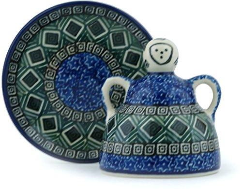 Polish Pottery Mini Cheese (Polish Pottery Mini Cheese Lady made by Ceramika Artystyczna (Mediterranean Seashore Theme))