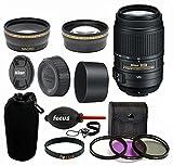 Nikon 55-300mm f/4.5-5.6G ED VR AF-S DX Nikkor Zoom Lens + Deluxe Kit Nikon 55/300 Lens bundle