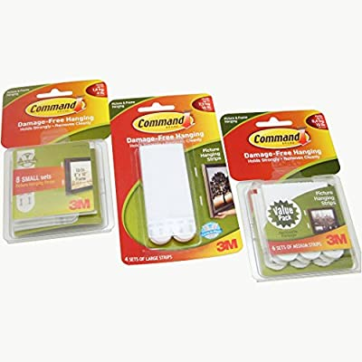 Command Picture Hanging Strips, Medium(17201-ES)
