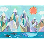 Mountain Adventure By The Sea by Melanie Mikecz - Stretched Canvas Wall Art, 30 x24