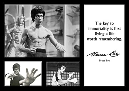 Bruce Lee 16 A4 Poster Famous Quotes Quotations Martial