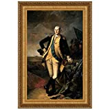 Design Toscano George Washington at the Battle of Princeton, 1781 Canvas Replica Pa...