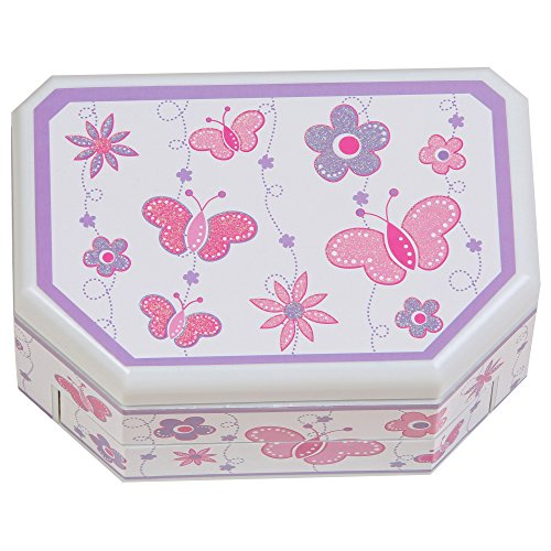 Mele & Co.. Kelsey Girl's Musical Ballerina Jewelry Box (Butterfly and Flower Design) by Mele & Co. (Image #3)
