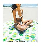 Alaska2You Round Mandala Tapestry Outdoor Beach Towel Picnic Blanket Bohemian Pineapple Wink Gal Hippie Towels Beach Yoga Mat