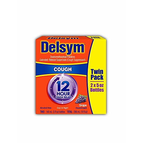 Delsym 12-Hour Cough Relief, 2 pk./5 oz.