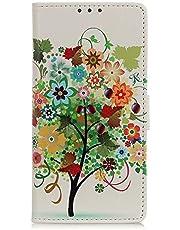 جراب محفظة TYWZ لهاتف Xiaomi Redmi 9A، جراب قلاب من جلد البولي يوريثان ذو ألوان زاهية مع فتحات لحمل البطاقات وجيوب مغناطيسية إغلاق شجرة شجرة شجرة شجرة شجرة الشجرة
