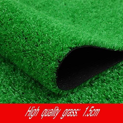 YNFNGXU 人工芝15mmパイル高合成品質グラスカーペット、排水穴付きヤードテラス屋外装飾 (Size : 2x1m)