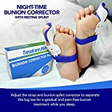 Bunion Corrector, Comfortable to Wear Bunion Treatment: Treadcare Plus Adjustable Bunion Corrector - 2 (Pair) of Bunion Splint Pads, Toe Protectors for Support and Treatment of Hallux Valgus