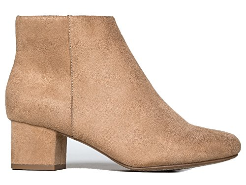 Bootie Low Heel Everyday Jody up Boot Adams Zip Ankle Suede Natural Bootie J by Comfortable Toe Round Casual O51AqEw