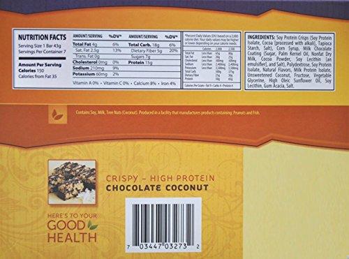 NutriWise - Chocolate Coconut Crispy Diet Protein Bars (7 bars)