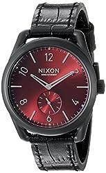 Nixon Men's A4591886 C39 Analog Display Swiss Quartz Black Watch