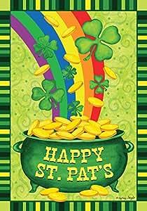 """Olla de oro de San Pat casa bandera vacaciones Briarwood Lane 28""""x40"""""""