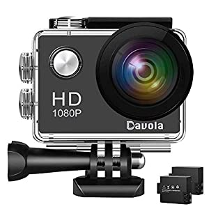 Action Camera Davola 1080P WiFi Sports Camera 12MP Underwater Waterproof Camera with Wide-Angle Lens and Mounting…
