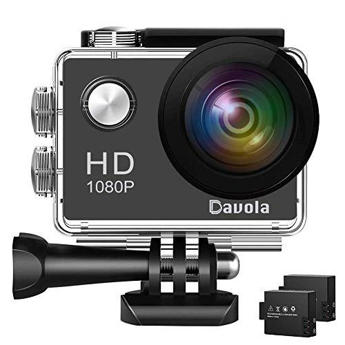 (Action Camera Davola 1080P WiFi Sports Camera 12MP Underwater Waterproof Camera with Wide-Angle Lens and Mounting Accessory Kits )