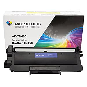 A&D Products Compatible Replacement For Brother TN450 Toner Cartridge High Yield Black (2,600 Page Yield) for use with Brother HL-2220, HL-2230, HL-2240, HL-2240D, HL-2270DW, HL-2275DW, HL-2280DW, MFC-7240, MFC-7360N, MFC-7365DN, MFC-7460DN, MFC-7860DW, DCP-7060D, DCP-7065DN, IntelliFax-2840, IntelliFAX-2940 Printers