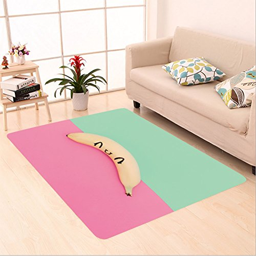 Sophiehome skid Slip rubber back antibacterial  Area Rug Anime Happy Baby Banana. Pastel colors. Minimal style_538152580 Home Decorative by sophiehome