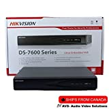 Hikvision 4 Channel NVR (DS-7604NI-E1/4P) with 1TB WD Purple HDD Installed, Built-in PoE Plug and Play US English Version [Ships from Canada by AVS- Audio Video Solutions]
