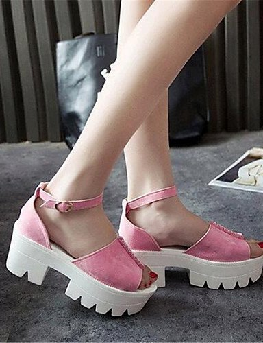 Creepers Gray Sandals Pink Shoes Women's Casual ShangYi Black Leatherette Black Platform qCXnInFzw