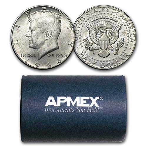 1964 Silver Kennedy Half Dollar 20-Coin Roll Avg Circ (P & D) Half Dollar Very Good