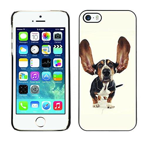 Omega Case PC Polycarbonate Cas Coque Drapeau - Apple iPhone 5 / 5S ( Funny Big Ear Hound Dog )
