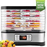 Food Dehydrator Machine, Digital Timer and Temperature Control, 8 Trays, for Jerky/Meat/Beef/Fruit/Vegetable, BPA Free/450 Watt/Updated