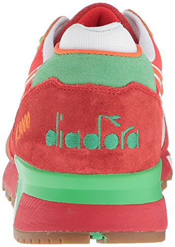 Diadora N9000 Mænd Rund Tå Syntetiske Blå Sneakers Valmue Rød / Irsk Grøn 8zYgA