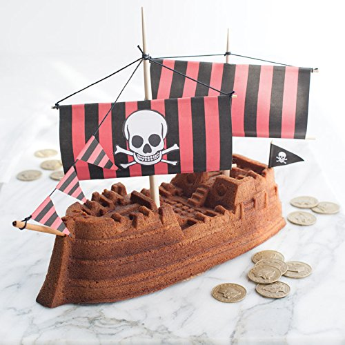NordicWare 59237 - Molde para tartas, diseño de barco pirata: Amazon.es: Hogar