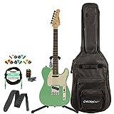 Sawtooth ST-ET50-SGRW-KIT-1 Classic ET 50 Ash Body Electric Guitar Pack, Surf Green