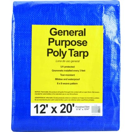 Do it Best 767888 All-Purpose Poly Blue Tarpaulin