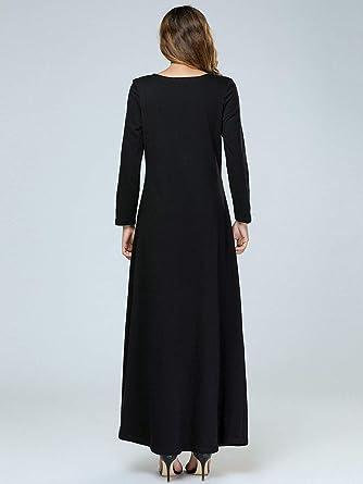 Acqrobe Robes Longues Dames Maxi Caftan Islamique décontracté Abaya Jilbab  Robe Longue du Moyen-Orient  Amazon.fr  Vêtements et accessoires 9c1cba59659
