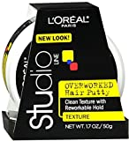 L'oreal Paris Studio Line Texture And Control Overworked Hair Putty Styling Paste, 1.7 Oz (2 Pack)
