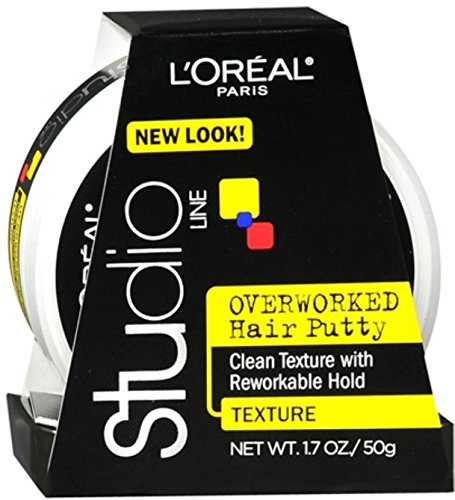 Control Loreal Studio - L'oreal Paris Studio Line Texture And Control Overworked Hair Putty Styling Paste, 1.7 Oz (2 Pack)