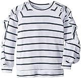 Chaser Kids Girl's Extra Soft Love Knit Ruffled Sleeve Pullover Sweater (Little Kids/Big Kids) Stripe 8