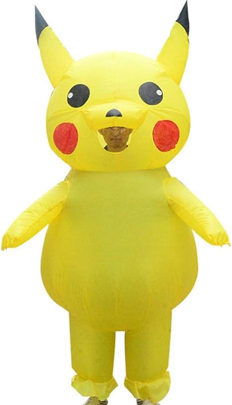 Ss Disfraz de Pikachu de Dibujos Animados para muñeca Inflable ...