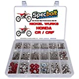 Specbolt Fasteners Nickel Wurks Bolt Kit Honda CR CRF 80 85 125 150 250 450 500 CRF250 CRF450 CR125 CR250 CR500 Titanium Looks at Affordable Price