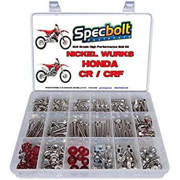 XR50 XR80 XR100 XR185 XR200 XR250 XR400 XR500 XR600 XR650 and XR XL Models 50 80 100 185 200 250 400 500 600 650 250pc Specbolt Fasteners Brand Bolt Kit fits