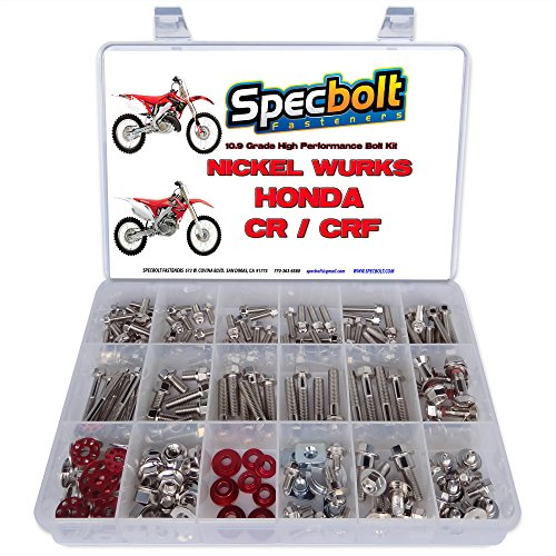 Specbolt Fasteners Nickel Wurks Bolt Kit Honda CR CRF 80 85 125 150 250 450 500 CRF250 CRF450 CR125 CR250 CR500 Titanium Looks at Affordable Price by Nickel Wurks (Image #9)