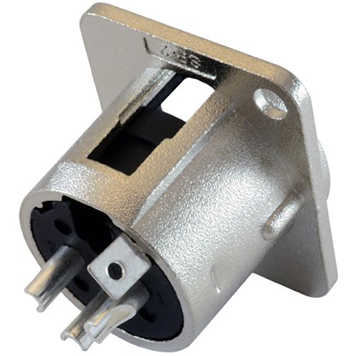 GLS Audio XLR Male Jack 3 Pin - Panel Mount Jacks D Series Size XLR-M - 20 PACK by GLS Audio (Image #2)