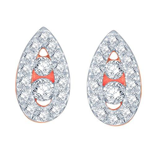 Giantti 14carats Diamant pour femme Boucles d'oreille à tige (0.223CT, VS/Si-clarity, Gh-colour)