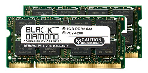 (2GB 2X1GB RAM Memory for AOpen Notebooks 1500 Black Diamond Memory Module DDR2 SO-DIMM 200pin PC2-4200 533MHz Upgrade)
