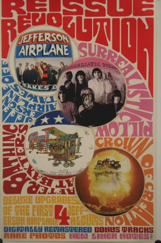 Jefferson Airplane Surrealistic Pillow Rare Poster by BMG MUSIC