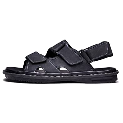 09c0ff56f Cover Plus 3 Color Size 5-12 Genuine Leather Sandals Flats Summer Casual  Walking Mens