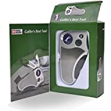 Golfer's Best Tool Golf Multitool All-IN-ONE - Stroke Counter, Divot Repair Tool, Brush, Ball Marker, Cleat Tightener, Club Groove Cleaner, Best Golf Gift Idea For Men Women, Souvenir, Present