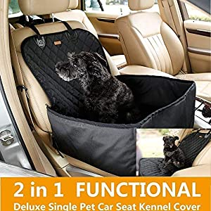 SRI Waterproof and Non-slip Rubber Backing with Anchors Pet Seat Covers (Black)
