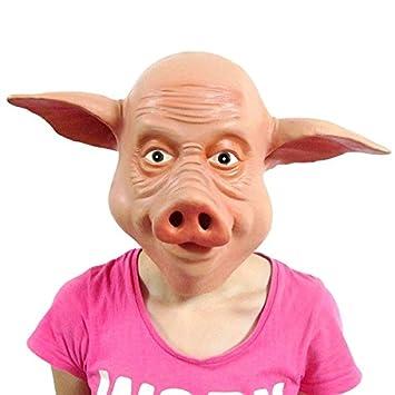 látex máscara de cerdo disfraz