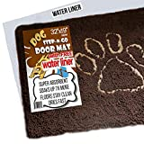 iPrimio Dog Extra Thick Micro Fiber Pet Dog Door Mat – Super Absorbent. Includes Water Proof Liner – Extra Floor Protection – Medium Size 32″ X 19″ Exclusive Brown Color For Sale