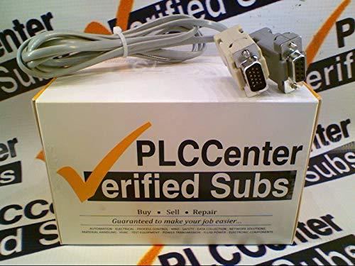RADWELL VERIFIED SUBSTITUTE D2-DS-CBL-1-SUB Replacement of Automation Direct D2-DSCBL-1, Cable D2-250 PC Programming for Bottom Port